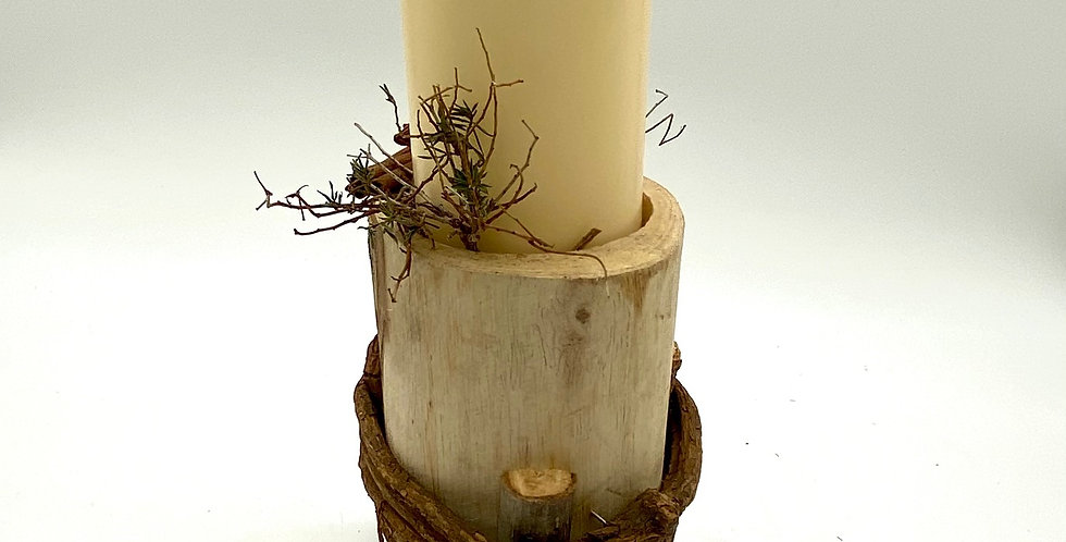 Kerzenständer Holzfuß