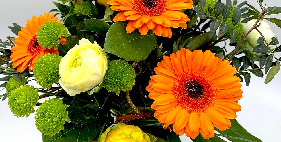 Blumenstrauß gelb und orange