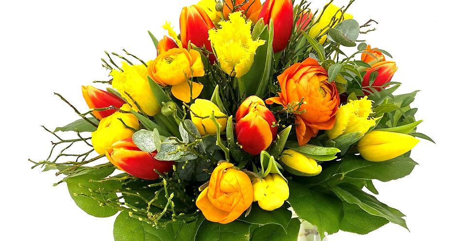 Tulpenstrauß orange-gelb