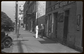 old picture of shoe repair