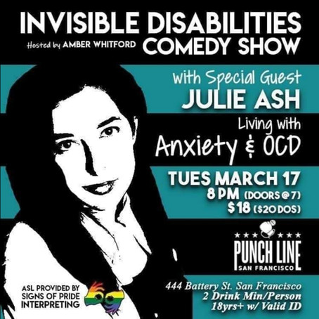 Julie Ash cracks jokes about her Anxiety and OCD!