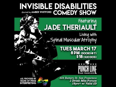 Jade Theriault is our featured comedian in March!