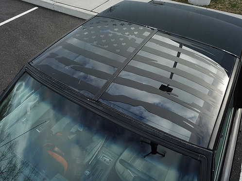 G Body Tattered American Flag T-top Decal