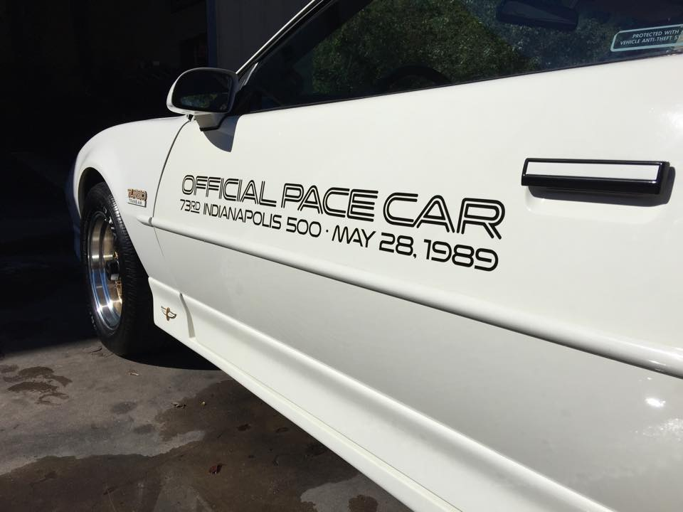 1989 Turbo Trans Am Pace Car ready!