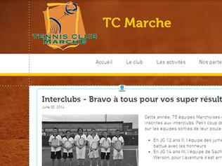 Le TC Marche lance son nouveau site web