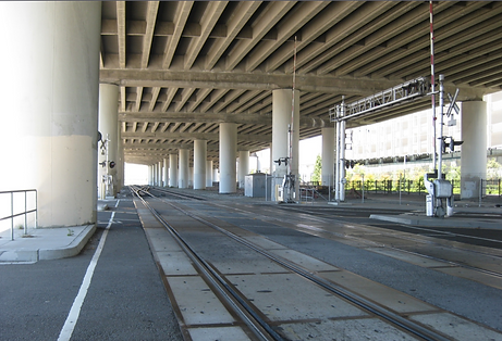 Underneath the Existing I-280 Elevated Freeway