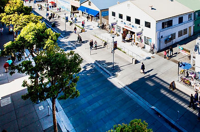 Jefferson Street from above.  SFPW