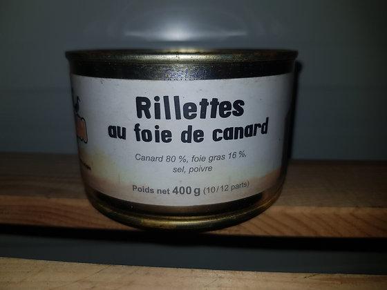 Rillettes de canard au foie gras 400
