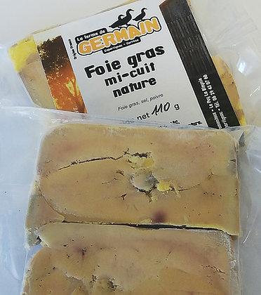 Terrine de foie gras mi-cuit nature