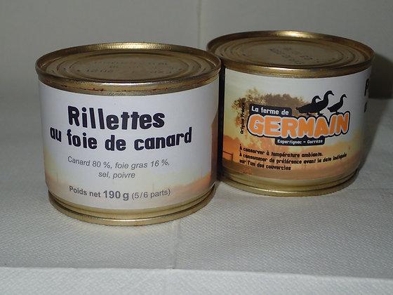 Rillettes de canard au foie gras 190