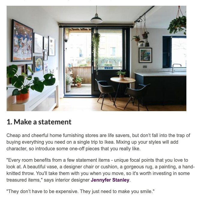 Zoopla Guides - Make a statement