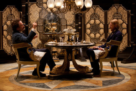 Oblonsky and Levin dine in Moscow (movie scene)