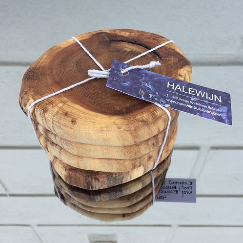 Wood coasters - 4pack