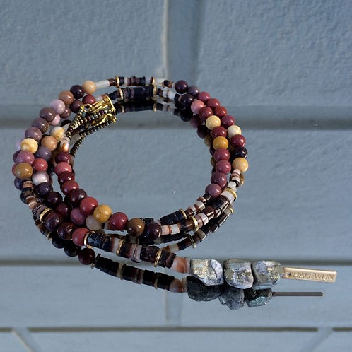 Gemstone necklace N°9