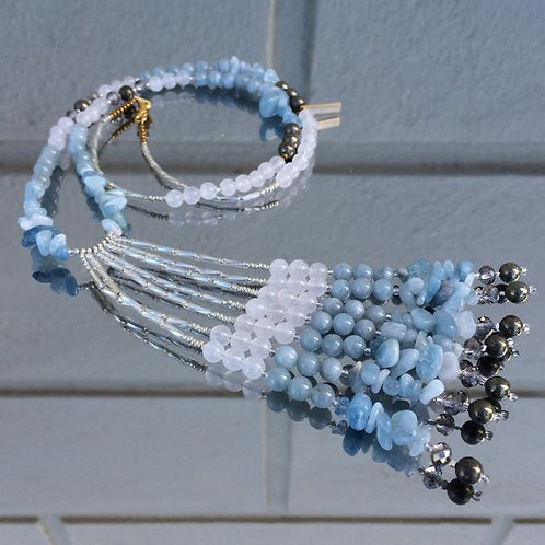 Gemstone necklace N°12