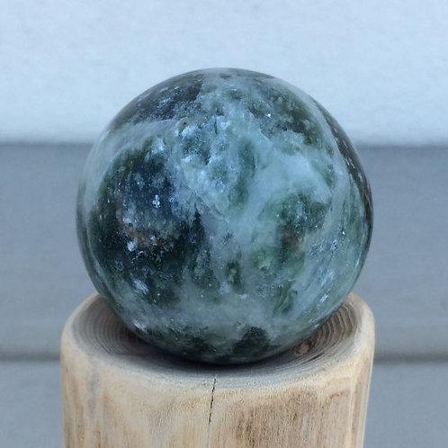 Green Lushan Jade sphere
