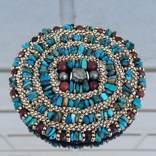 Tibetan Turquoise brooch