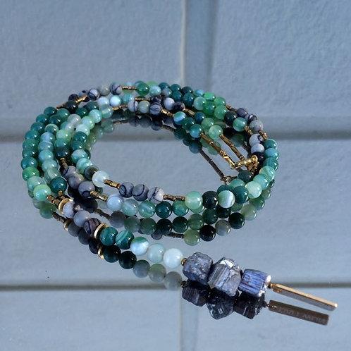 Gemstone necklace N°16