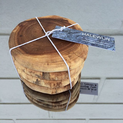 Wood coasters - 4pack