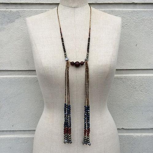 Dumortierite necklace N°3