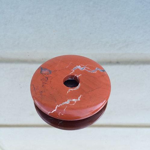 Flame Jasper donut pendant