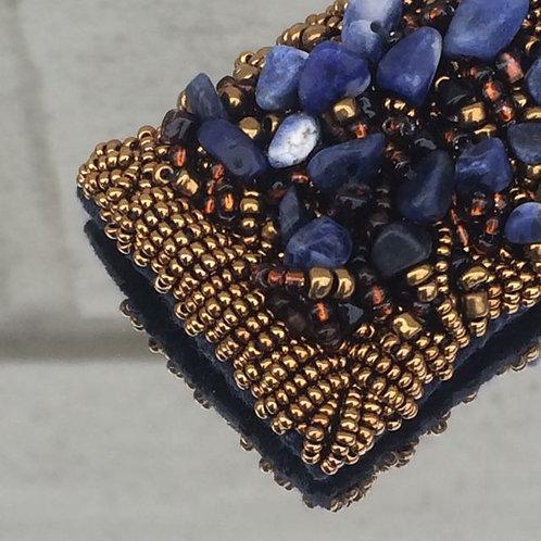 Midnight Blue hair clip