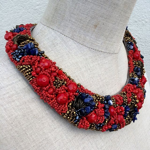 Red Berry couture necklace