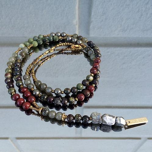 Gemstone necklace N°7