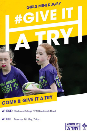 Girls Mini Rugby #GIVEITATRY Begins in May
