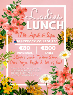 Ladies Lunch 2020 Details Announced