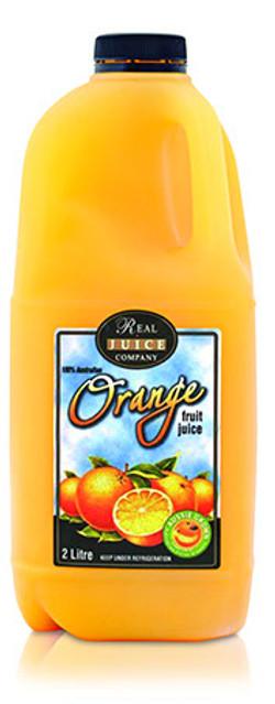 fresh orange full pulp 2ltr