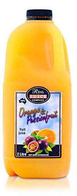 fresh orange - passionfruit 2ltr