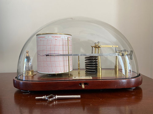Rare Glass Dome Barograph