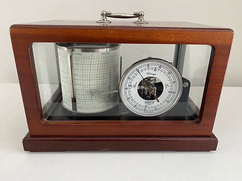 Barograph in Rich Hardwood with Dial