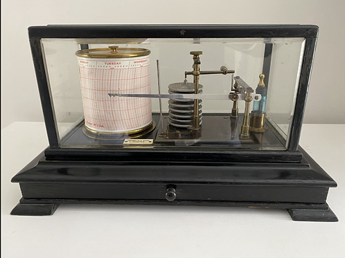 Ebonised Barograph by Franklin & Hare, Taunton