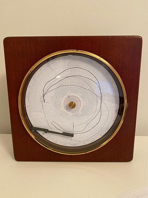 Rare Disc wall Barograph