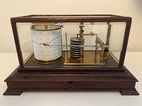 English Oak  Display Barograph