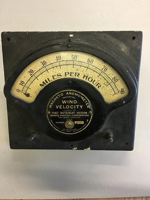 Friez/Bendix wind speed indicator