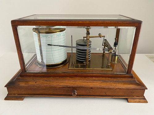 English Oak Cased Display Barograph