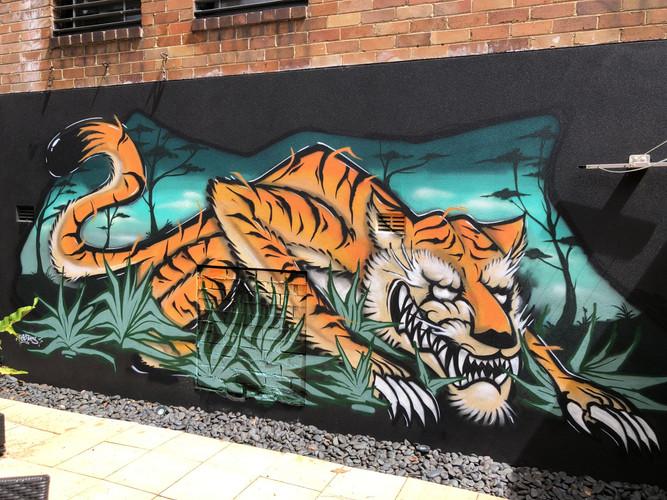 Graffiti, Tiger, Street Art, Spray Paint, Sydney