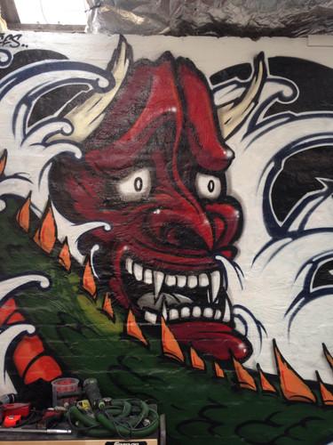 Hanya Graffiti, Graffiti Artist sydney, Mural, Street Art