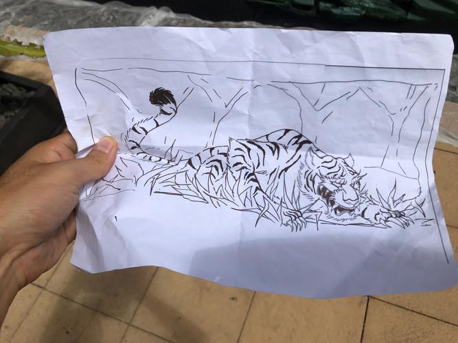 Sketch, Graffiti, Tiger, Street Art, Spray Paint, Sydney