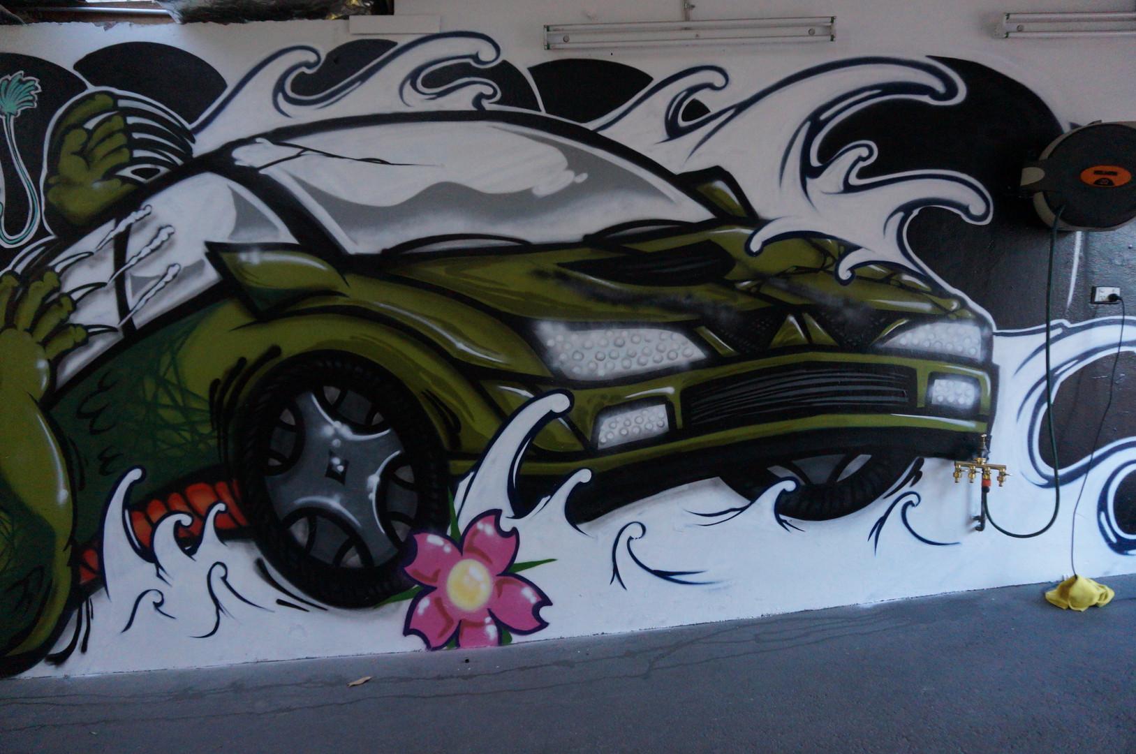 Car Graffiti, Graffiti Artist sydney, Mural, Street Art