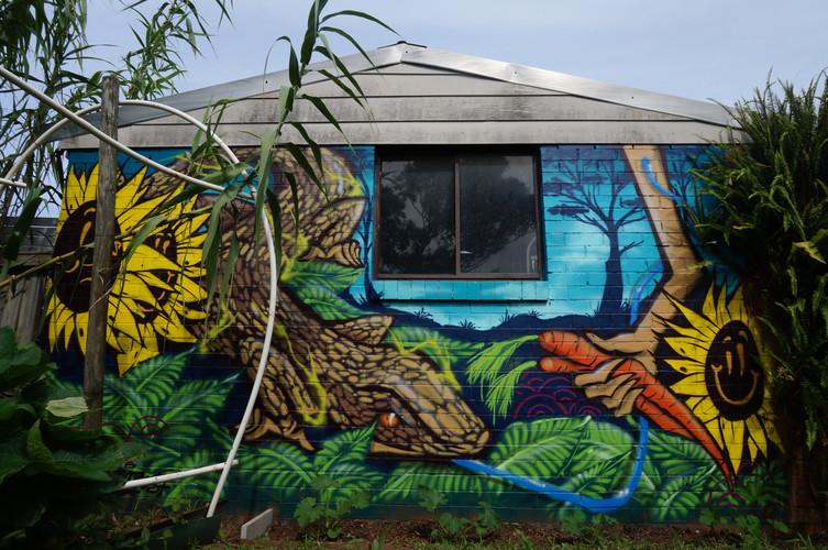 Lizard, Graffiti, Street Art Mural, Hugo Tees