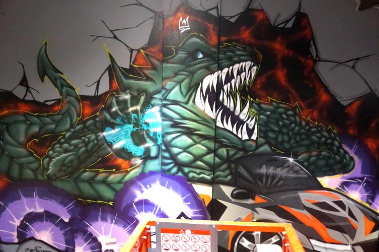 Godzilla in a drop-top, Artarmon