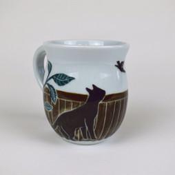 Cat with Bird Mug