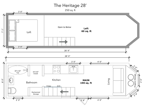 The Heritage 28' Tiny Home