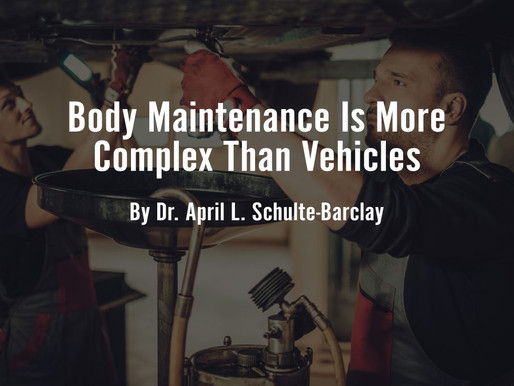 Body Maintenance Is More Complex Than Vehicles
