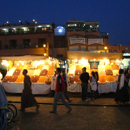 Marrakesh Morocco and the Djemaa el-Fna