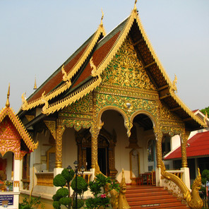 Buddhist Temples at Chiang Mai Thailand